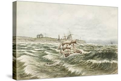 Rescue Off Tynemouth-James Henry Cleet-Stretched Canvas Print