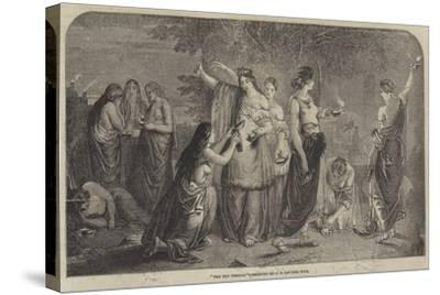 The Ten Virgins-James Eckford Lauder-Stretched Canvas Print