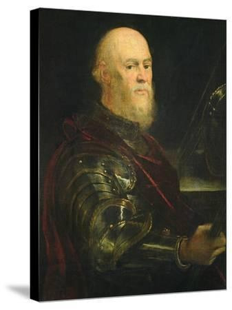 Venetian General, 1570-75-Jacopo Robusti Tintoretto-Stretched Canvas Print
