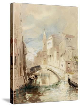 The Merchant of Venice on the Rialto Bridge-James Holland-Stretched Canvas Print