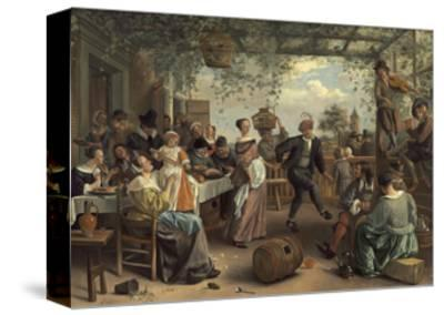 The Dancing Couple, 1663-Jan Havicksz^ Steen-Stretched Canvas Print