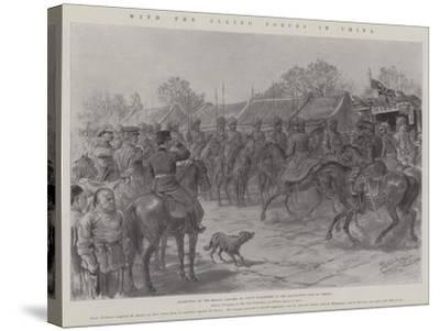 With the Allied Forces in China-Johann Nepomuk Schonberg-Stretched Canvas Print