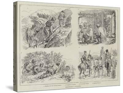 Brigandage in Bulgaria-Johann Nepomuk Schonberg-Stretched Canvas Print