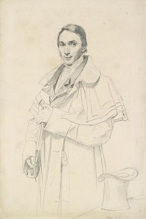 Three-Quarter-Length Portrait of Jean-Francois-Antoine Forest (Graphite on White Wove Paper)-Jean Auguste Dominique Ingres-Stretched Canvas Print