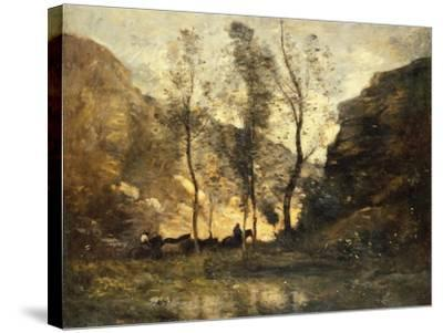 The Smugglers, C.1871-72-Jean-Baptiste-Camille Corot-Stretched Canvas Print