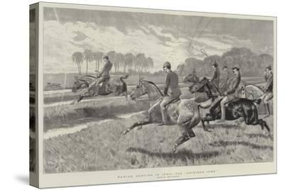 Pariah Hunting in India, the Gridiron Jump-John Charlton-Stretched Canvas Print
