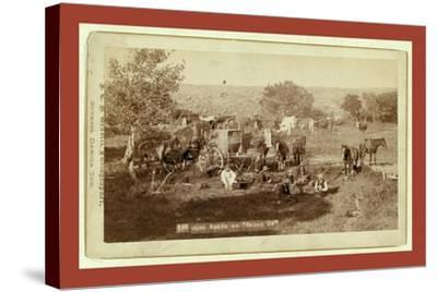Mess Scene on Round Up-John C. H. Grabill-Stretched Canvas Print