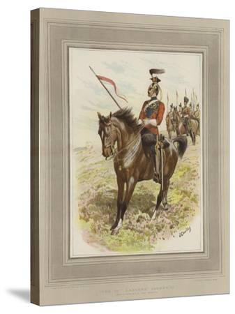 The 16th Lancers, (Queen's)-John Charlton-Stretched Canvas Print