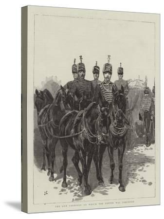 The Gun Carriage on Which the Coffin Was Conveyed-John Charlton-Stretched Canvas Print