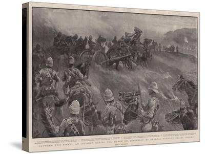 Between Two Fires, an Incident During the March on Kimberley by General French's Relief Column-John Charlton-Stretched Canvas Print