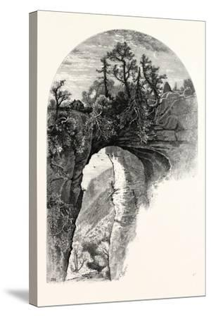 Natural Bridge, Virginia-John Douglas Woodward-Stretched Canvas Print