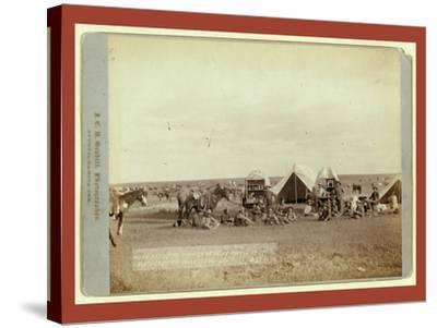 Roundup Scenes on Belle Fouche [Sic] in 1887-John C. H. Grabill-Stretched Canvas Print