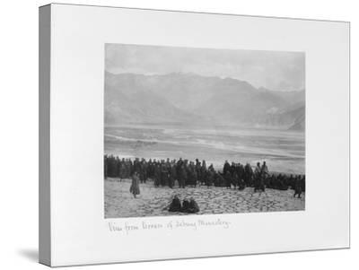 View from Terrace of Debung Monastery, Tibet, 1903-04-John Claude White-Stretched Canvas Print