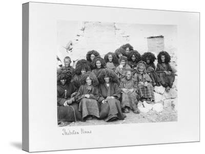Group of Nuns at the Nunnery of Tatsang, 1903-04-John Claude White-Stretched Canvas Print