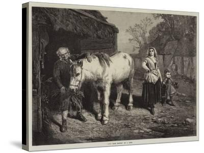 Auld Mare Maggie-John Faed-Stretched Canvas Print