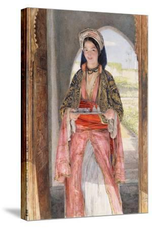 An Eastern Girl Carrying a Tray, 1859-John Frederick Lewis-Stretched Canvas Print