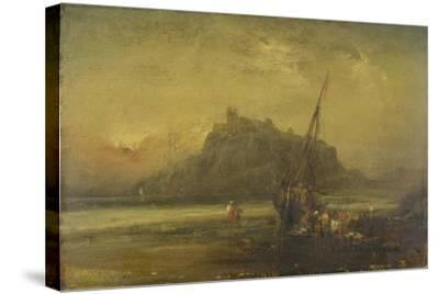 Beach Scene-John Sell Cotman-Stretched Canvas Print