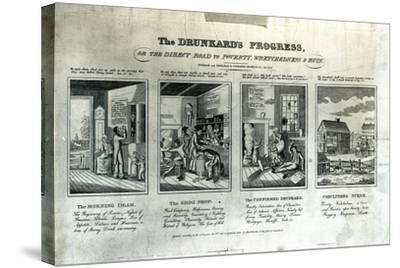 The Drunkard's Progress, 1826-John Warner Barber-Stretched Canvas Print