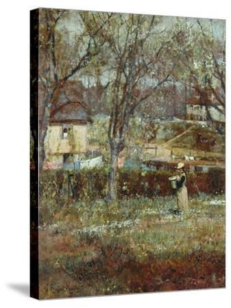 Rural Scene-John William Buxton Knight-Stretched Canvas Print