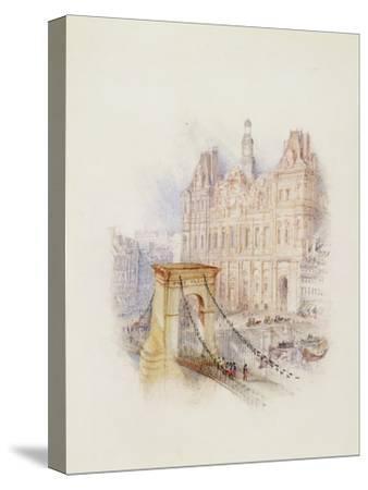 Paris: Hotel De Ville-J^ M^ W^ Turner-Stretched Canvas Print