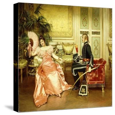 Flirtation-Joseph Frederick Charles Soulacroix-Stretched Canvas Print