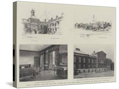 Views of Kensington Palace-Joseph Holland Tringham-Stretched Canvas Print