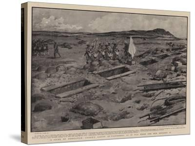 A Scene of Desolation, Cronje's Laager at Paardeberg as it Was When Our Men Entered It-Joseph Nash-Stretched Canvas Print