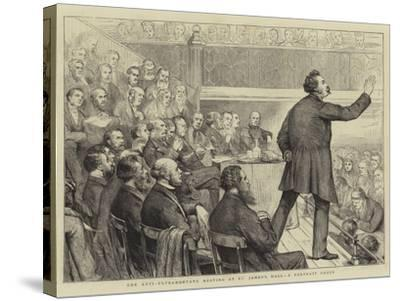 The Anti-Ultramontane Meeting at St James's Hall, a Portrait Group-Joseph Nash-Stretched Canvas Print