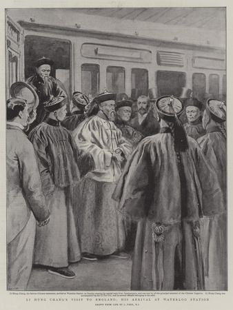 Li Hung Chang's Visit to England, His Arrival at Waterloo Station-Joseph Nash-Stretched Canvas Print