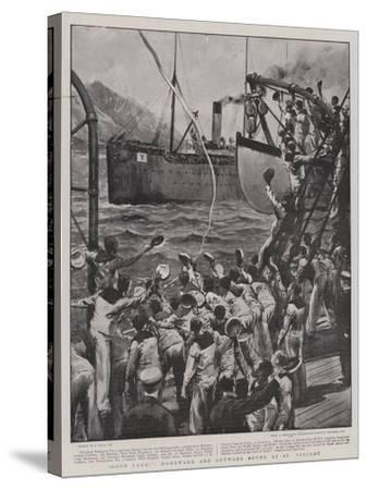 Good Luck!, Homeward and Outward Bound at St Vincent-Joseph Nash-Stretched Canvas Print