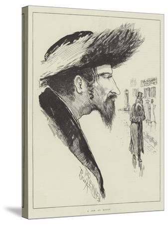 The Jew at Home-Joseph Pennell-Stretched Canvas Print