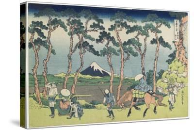 Hodogaya on the Tokaido Road, 1831-1834-Katsushika Hokusai-Stretched Canvas Print