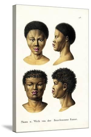 Bushmen, 1824-Karl Joseph Brodtmann-Stretched Canvas Print