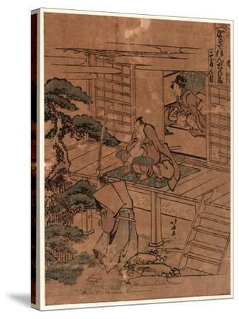 Nidanme-Katsushika Hokusai-Stretched Canvas Print