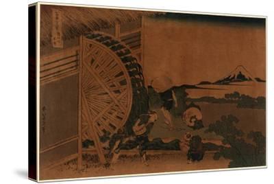 Onden No Suisha-Katsushika Hokusai-Stretched Canvas Print