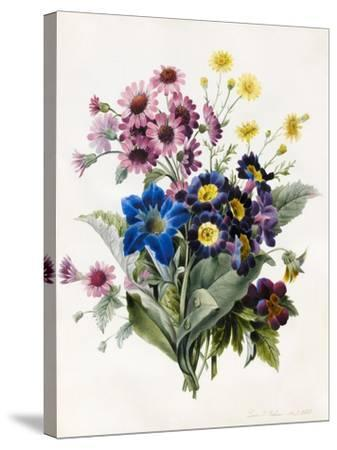 Mixed Flowers-Louise D'Orleans-Stretched Canvas Print