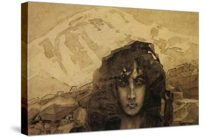 Head of a Demon, 1890-Mikhail Aleksandrovich Vrubel-Stretched Canvas Print