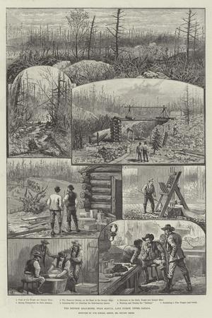 The Denison Gold-Mines, Near Algoma, Lake Huron, Upper Canada-Melton Prior-Stretched Canvas Print
