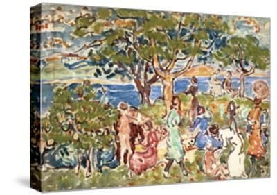 The Picnic, C.1912-15-Maurice Brazil Prendergast-Stretched Canvas Print