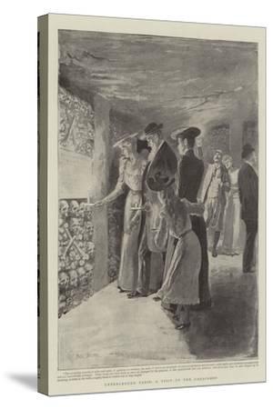 Underground Paris, a Visit to the Catacombs-Paul Destez-Stretched Canvas Print