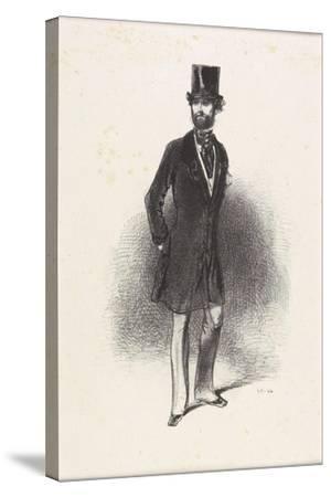 Costume D'Hiver, Par Humann, 1846-Paul Gavarni-Stretched Canvas Print
