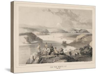 View from Webster Island, Yedo Bay, Litho by Sarony and Co., 1855-Peter Bernhard Wilhelm Heine-Stretched Canvas Print