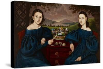 Ann and Eliza Dusenberry, 1838-Orlando Hand Bears-Stretched Canvas Print