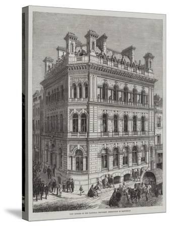 New Offices of the National Provident Institution in Eastcheap-R. Dudley-Stretched Canvas Print