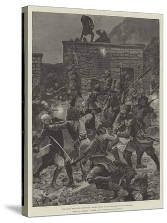 The Black Mountain Expedition, Ghazi Attack on an Advanced Post at Ghazikot-Richard Caton Woodville II-Stretched Canvas Print