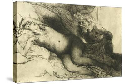 Jupiter and Antiope, C.1659-Rembrandt van Rijn-Stretched Canvas Print