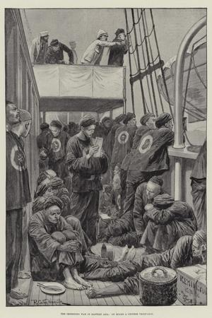 The Impending War in Eastern Asia, on Board a Chinese Troop-Ship-Richard Caton Woodville II-Stretched Canvas Print