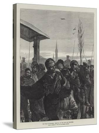 The War in Bulgaria, Removal of the Sick and Wounded-Richard Caton Woodville II-Stretched Canvas Print