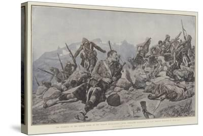 The Storming of the Dargai Ridge by the Gordon Highlanders-Richard Caton Woodville II-Stretched Canvas Print