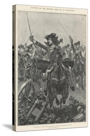 Battles of the British Army, Oudenarde-Richard Caton Woodville II-Stretched Canvas Print